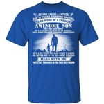 Dad Of Awesome April Son T-shirt Birthday Tee