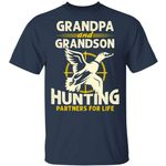 Grandpa And Grandson Hunting Partners For Life T-shirt MT06