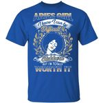 Aries Girl T-shirt Birthday I Know I Can Be Difficult & Stubborn Zodiac Tee