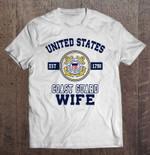 United States Est 1790 Coast Guard Wife Coast Guard Est 1790 United states Wife T Shirt