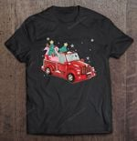 Flamingo Ride Red Truck Pick Up Christmas Tree BEST SELLING CHRISTMAS T Shirt