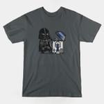 ROBOTIC TRASHCAN T-Shirt Darth Vader movie Parody R2-D2 Star Wars T Shirt