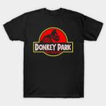 Donkey Park Distressed T-Shirt Donkey Kong Jurassic Park logo Nintendo Parody Video Game T Shirt