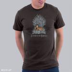 Throne of Bones T-Shirt Disney Game of Thrones Iron Throne movie Parody The Lion King TV T Shirt
