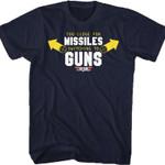Top Gun Missiles To Guns T-Shirt 80 tee gmc_created T Shirt