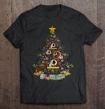 Merry And Bright Washington Redskins NFL Christmas Tree Football T Shirt