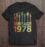 Vintage 1978 Guitarist Guitar Lovers 42nd Birthday Guitar Lovers Guitarist Vintage 1978 T Shirt