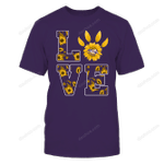 LSU Tigers - Stacked-Love-Sunflower-Paw-IF78-IC78-DS84 LSU Tigers T Shirt