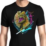 Rad Dilophosaurus Graphic Arts T Shirt