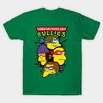Ninja Bullies T-Shirt Cartoon Parody Teenage Mutant Ninja Turtles The Simpsons TMNT TV T Shirt