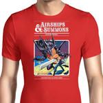 Airship and Summons Graphic Arts T Shirt