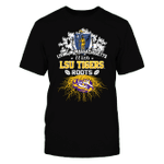 Living in Massachusetts with Tigers Roots LSU Tigers T Shirt
