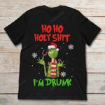 Grinch Christmas Ho Ho Holy Shit I'm Drunk T Shirt Christmas gmc_created T Shirt