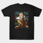 Samurai Punch T-Shirt Anime Japanese Manga One Punch Man Parody samurai T Shirt