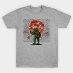 Graffiti Mutant Ninja Turtle T-Shirt Cartoon Graffiti Parody pizza Teenage Mutant Ninja Turtles TMNT TV T Shirt