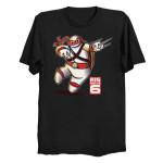 BIG NINJA 6 T-Shirt Baymax Big Hero 6 Cartoon Disney Mashup movie Teenage Mutant Ninja Turtles TMNT TV T Shirt