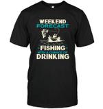 Weekend Forecast Fishing T Shirts bestfunnystore.com T Shirt