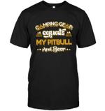 Camping Gear Equals My Pitbull T Shirts bestfunnystore.com T Shirt