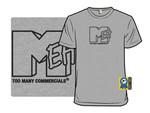 Internet Killed The TV Star T-Shirt logo meh MTV Parody TV T Shirt