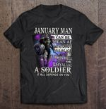 January Guy I Can Be Mean Af Sweet As Candy Cold As Ice Iron Man Version Avenger Iron Man January Man marvel soldier T Shirt