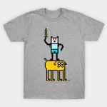 Pixel Time T-Shirt Adventure Time Cartoon TV T Shirt