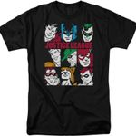 Hero Faces Justice League T-Shirt movie Superman Shirts T Shirt