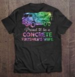 Proud To Be A Concrete Finisher's Wife Bubble Watercolor Version Sport T Shirt