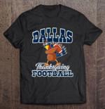 Dallas Thanksgiving Football Dabbing Turkey Dallas Cowboys Football T Shirt