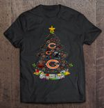Merry And Bright Chicago Bears NFL Christmas Tree Football T Shirt