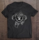 Oakland Raiders - NFL Heartbeat NFL T Shirt