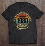 40 Years Of Being Awesome January 1980 Vintage Version 40 Years Old being awesome January 1980 Vintage 1980 T Shirt