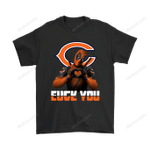 Chicago Bears x Deadpool Fuck You And Love You NFL Shirts Chicago Bears Deadpool football Fuck You Love you marvel NFL T Shirt