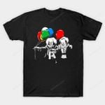 IT Fiction T-Shirt balloon Horror IT movie Parody Pennywise the Clown Pulp Fiction Stephen King's IT T Shirt