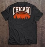 Chicago Football Vintage Hometown Skyline Football T Shirt