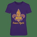 LSU Tigers - Fleur De Lis - Bow - Front LSU Tigers T Shirt