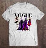 Vogue - Disney Villians Cruella Disney Disney Villians Evil Queen Maleficent Ursula Vogue Vogue magazine T Shirt