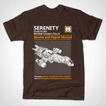 Serenity Service And Repair Manual T-Shirt firefly manual Parody repair manual Serenity TV T Shirt
