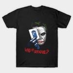 Who so Serious? T-Shirt Batman villain DC Comics Doctor Who Joker Parody Supervillain TARDIS TV Why so serious? T Shirt