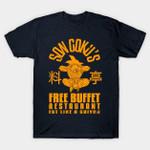 Free Buffet T-Shirt Anime Dragon Ball Goku Manga T Shirt