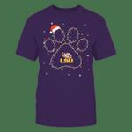 LSU Tigers - Christmas - Christmas Light Paw - Team LSU Tigers T Shirt