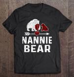 Nannie Bear Red Plaid Version bear Nannie Nannie Bear Plaid Bear Red Plaid T Shirt