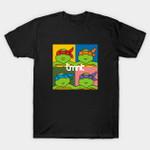 Pizza And TV T-Shirt Blur Cartoon Parody Teenage Mutant Ninja Turtles TMNT TV T Shirt