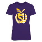 LSU Tigers - Patterned Letters Inside Apple LSU Tigers T Shirt