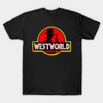 West Park T-Shirt Jurassic Park logo Parody TV Westworld T Shirt