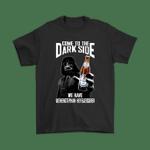 Come To The Dark Side We Have Weihenstephan Hefeweissbier Beer Shirts Dark Side Darth Vader Star Wars trending Weihenstephan Hefeweissbier T Shirt