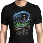 Alien Wars Graphic Arts T Shirt