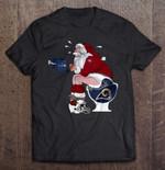 San Francisco 49ers Santa Sitting On Los Angeles Rams Toilet And Step On Arizona Cardinals Helmet NFL T Shirt