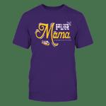 LSU Tigers - Fur Mama - Checkered Pattern LSU Tigers T Shirt
