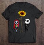 You Are My Sunshine Jack Skellington Sunflower Black Version Jack Skellington Nightmare Before Christmas Sunflower sunshine T Shirt