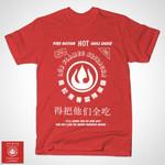 Flameo Chili Sauce T-Shirt Avatar: The Last Airbender Cartoon Parody Sriracha Sauce TV T Shirt